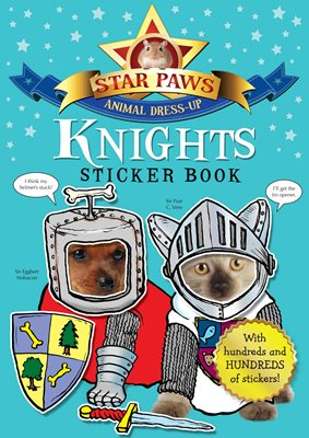 Book cover for Knights Sticker Book: Star Paws